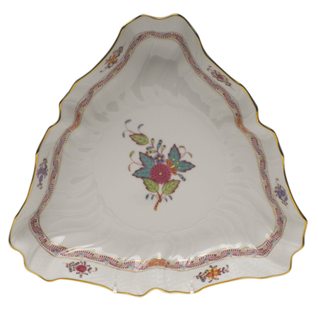 Chinese Bouquet Multicolor Triangle Dish