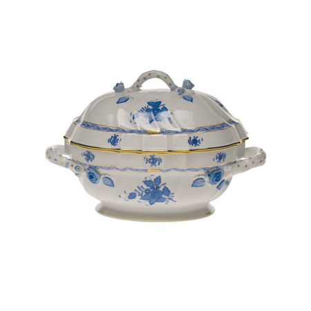 Chinese Bouquet Blue Tureen