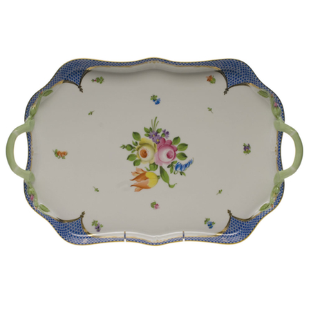 Printemps Blue Rectangular Tray