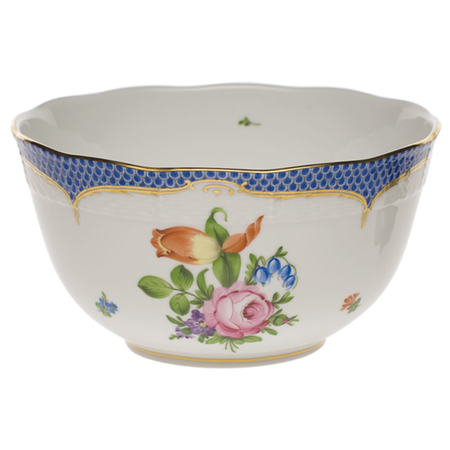 Printemps Blue Round Bowl
