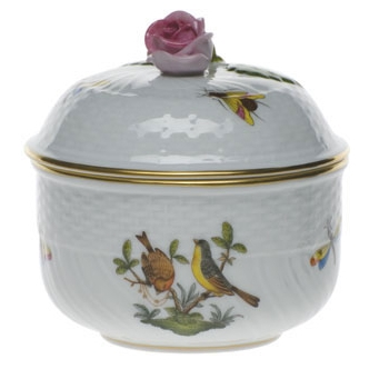Rothschild Bird Covered Sugar Bowl