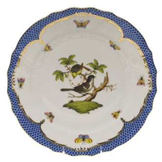 Rothschild Bird Blue Dinner Plate