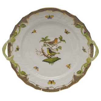 Rothschild Bird Brown Chop Plate With Handles