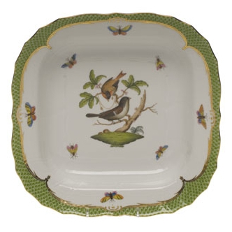 Rothschild Bird Green Square Fruit Dish