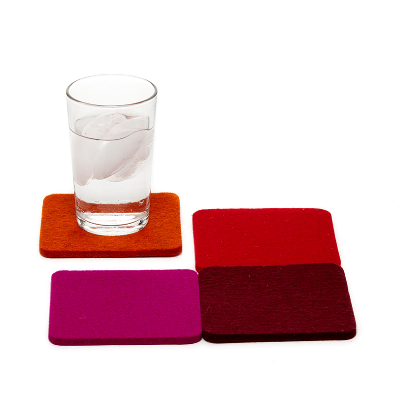 Bierfilzl Square Felt Coaster Bordeux