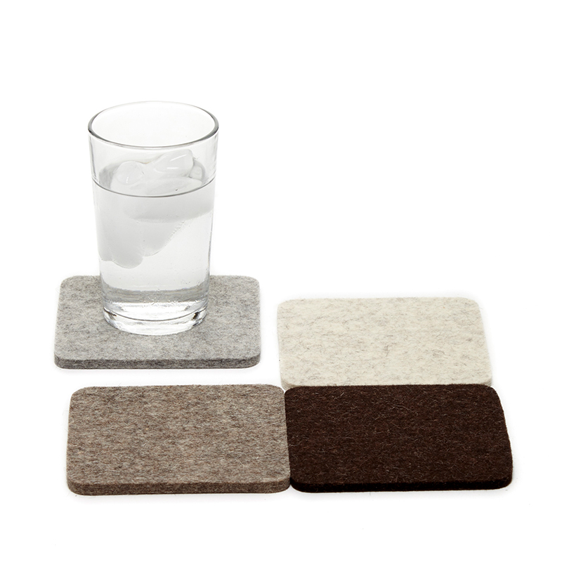 Bierfilzl Square Felt Coaster Earth