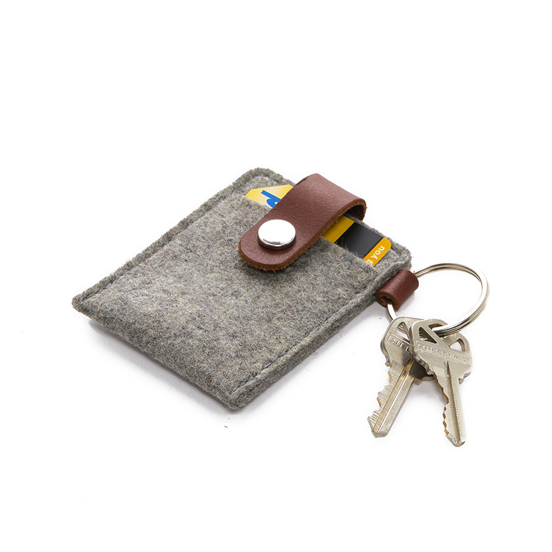 Key Card Case Felt Granite