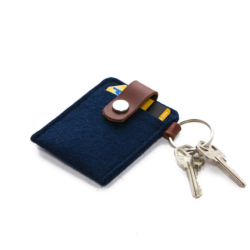 Key Card Case Felt Marine