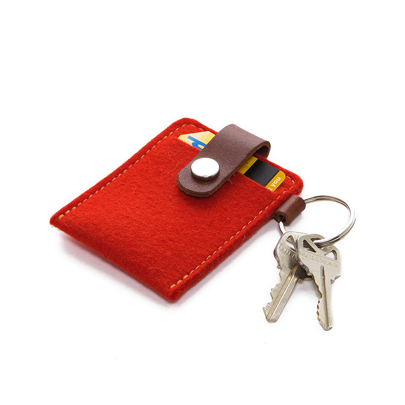 Key Card Case Felt Orange