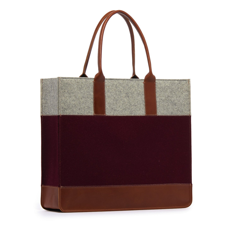 Jaunt Shopper Burgundy & Granite