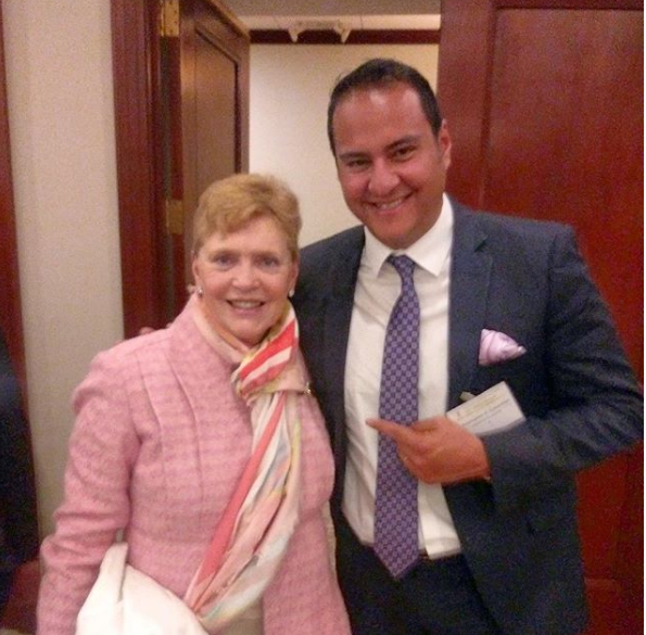 Founder Chris Cabanillas with Honorable Colleen McMahon, Chief U.S. District Judge of the U.S. District Court, SDNY.