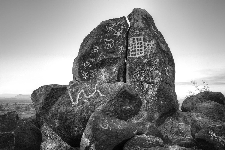 Petroglyph rock