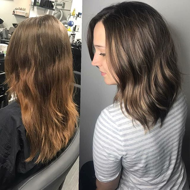 Check out this beautiful bayalage painted by @hairbybarbaraeli  Book your appts online while they still last www.vagaro.com/ChromaticEdgeSalon  #sanantoniohairstylist #sanantoniobayalage #sanantoniosalon #goldwellapprovedus #longbob