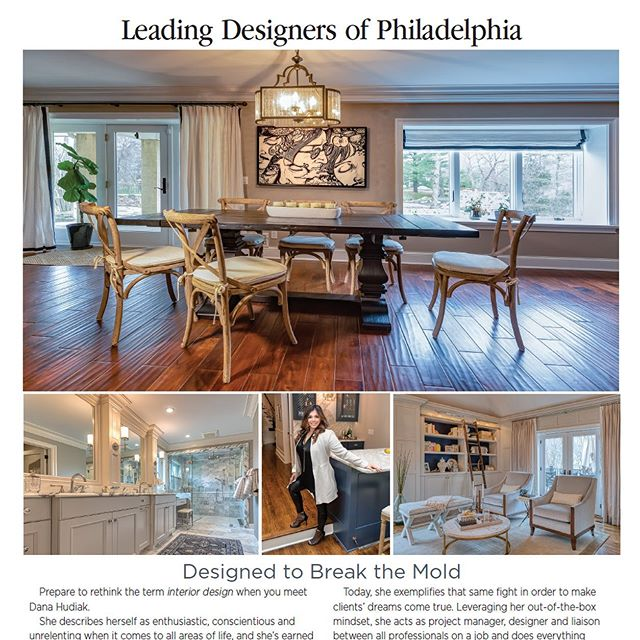 """We're thrilled to be mentioned as """"go-to builder"""" by @danahudiak and Hudiak Design in the July/Aug issue of @archdigest . She is a wonderful designer, and we enjoyed a great collaboration turning the owner's dream into a reality.  #mainlinehomes #mainlinetoday #mainlinelife #mainlinehome #Homedecor, #decor, #house, #homedesign, #philly, #phillyhomes, #homesweethome, #homeconstruction, #instahome, #houserenovation, #homerenovation, #philadelphia #mainlineliving, #mainlinehomes,  #mainlinehomerenovation #mainlinecustombuilder"""