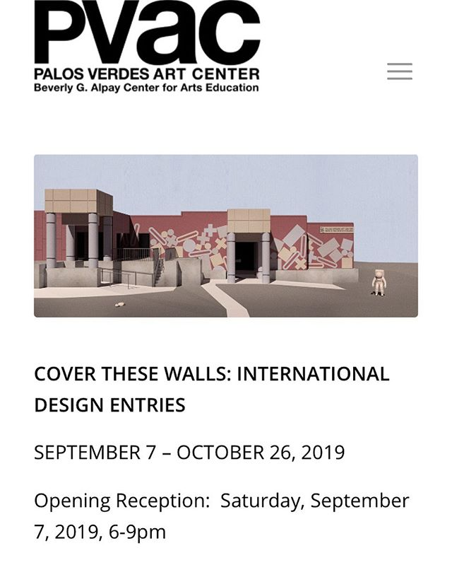 Of the nearly 200 international design proposals submitted for the Second PVAC Building Wrap, 40 have been selected to be presented in Cover These Walls, an exhibit opening September 6th at the Palos Verdes Art Center. I'm very proud to announce that Katherine Cross Design's proposal has been picked to be in the exhibit.