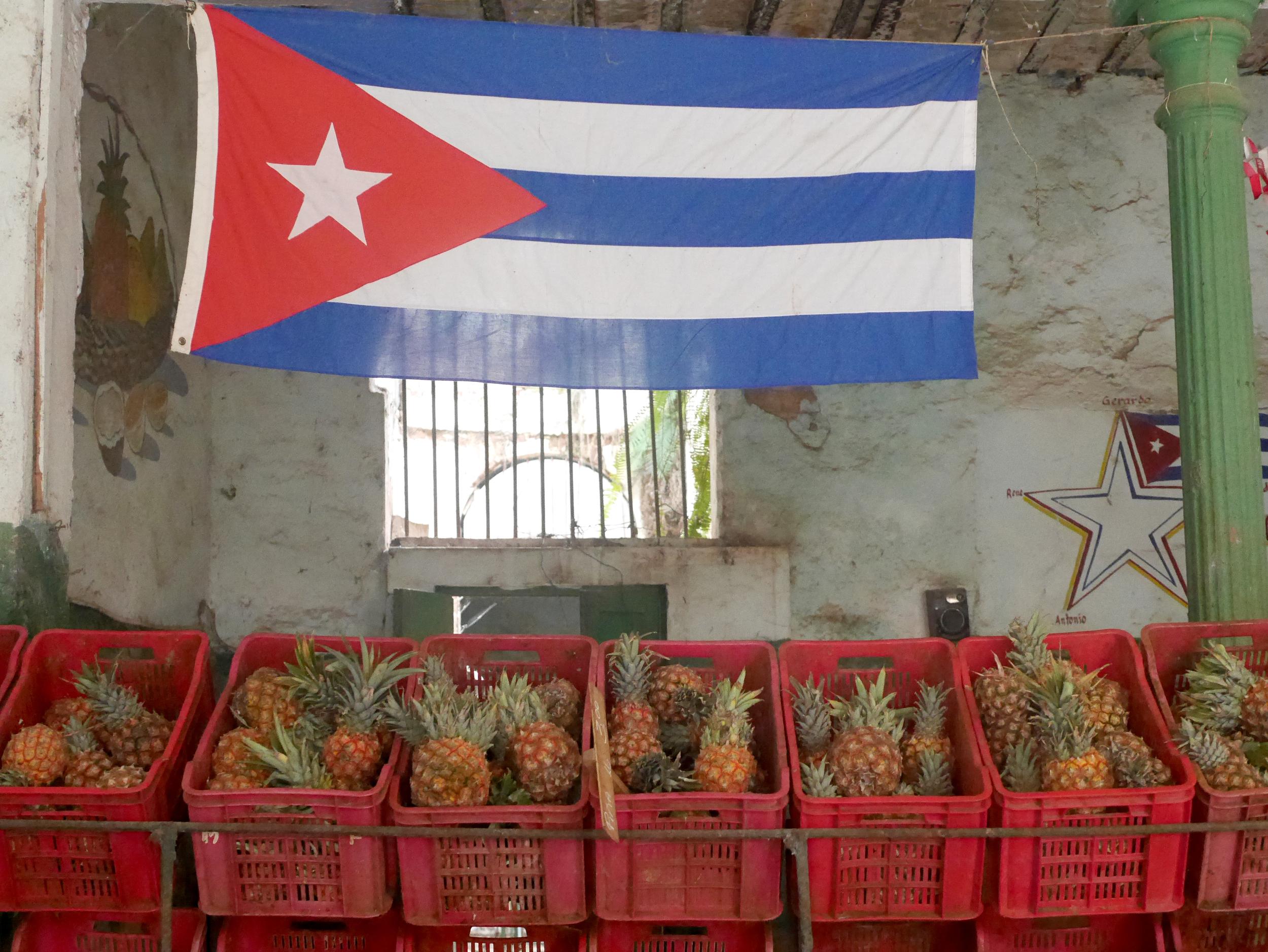 Produce market near our casa.