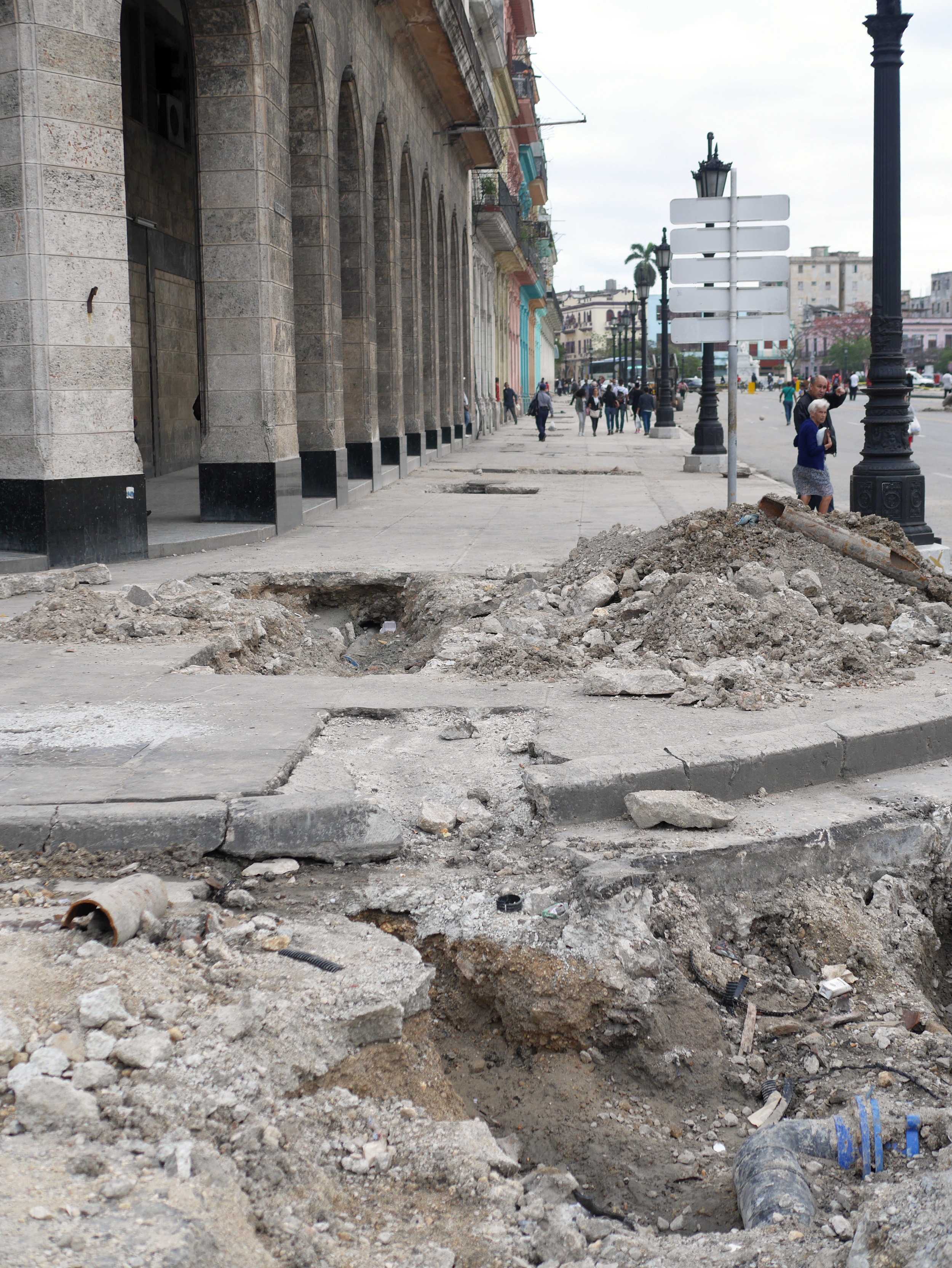 Watch your step... Havana is under construction.