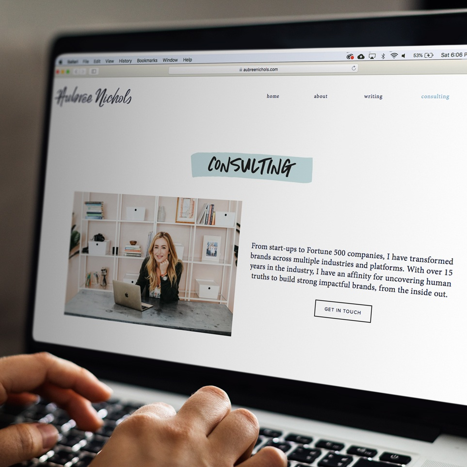 Aubree Nichols / WEB DESIGN