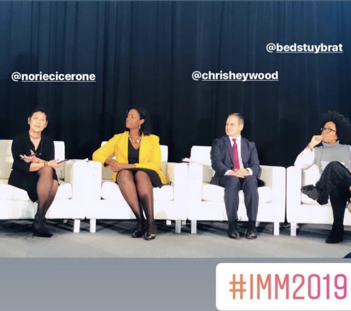 At the International Media Marketplace—the industry's leading event for the media to meet travel and tourism brands—discussing diversity in travel alongside Chris Heywood, and National Geographic Traveler's Heather Greenwood Davis and Norie Quintos.
