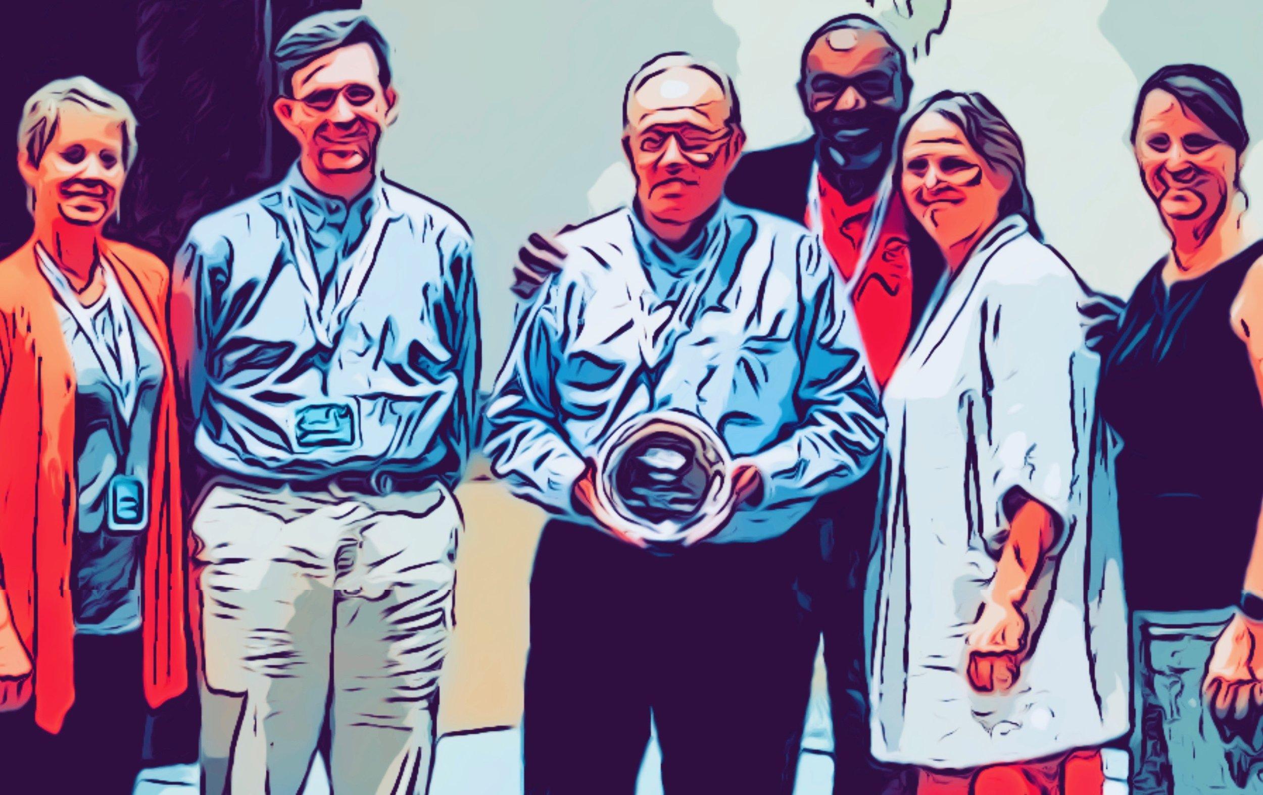 ATA board members receiving the 2019 NC CTA award of the year