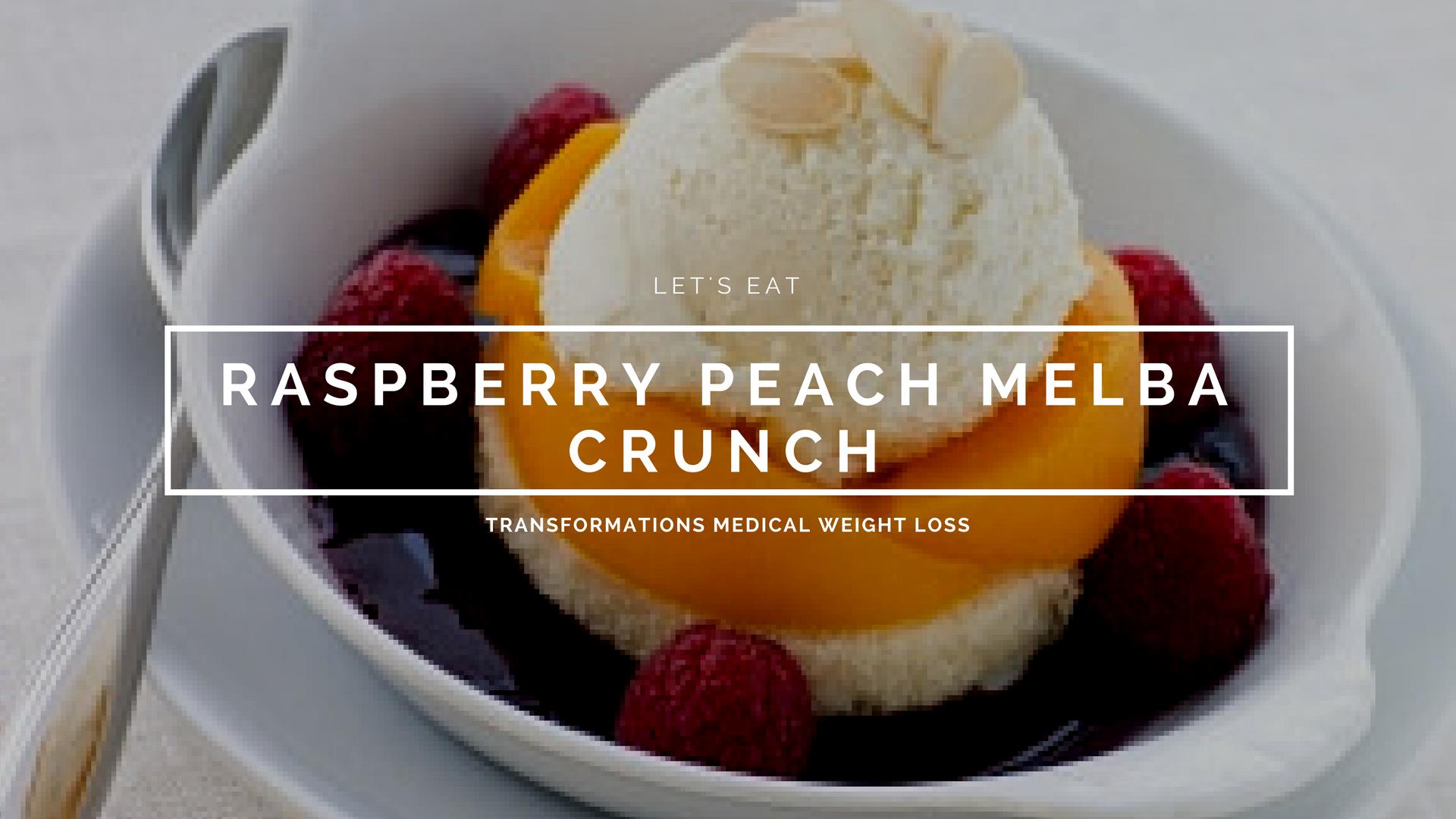 Raspberry Peach Melba Crunch