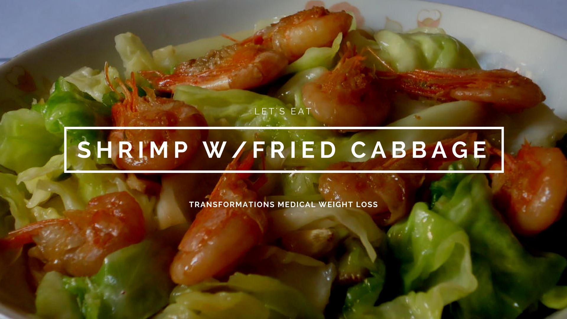 Shrimp w/Fried Cabbage
