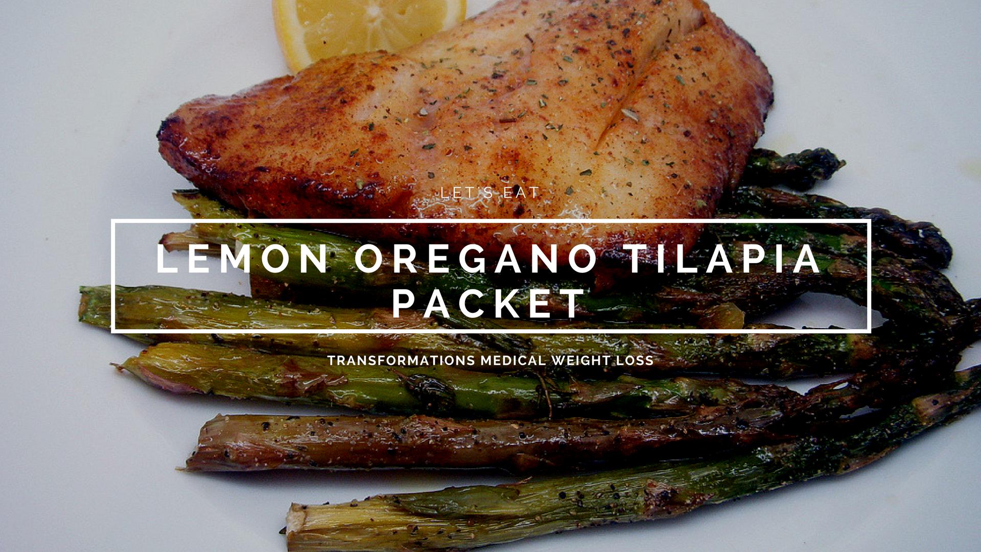 Lemon Oregano Tilapia Packet
