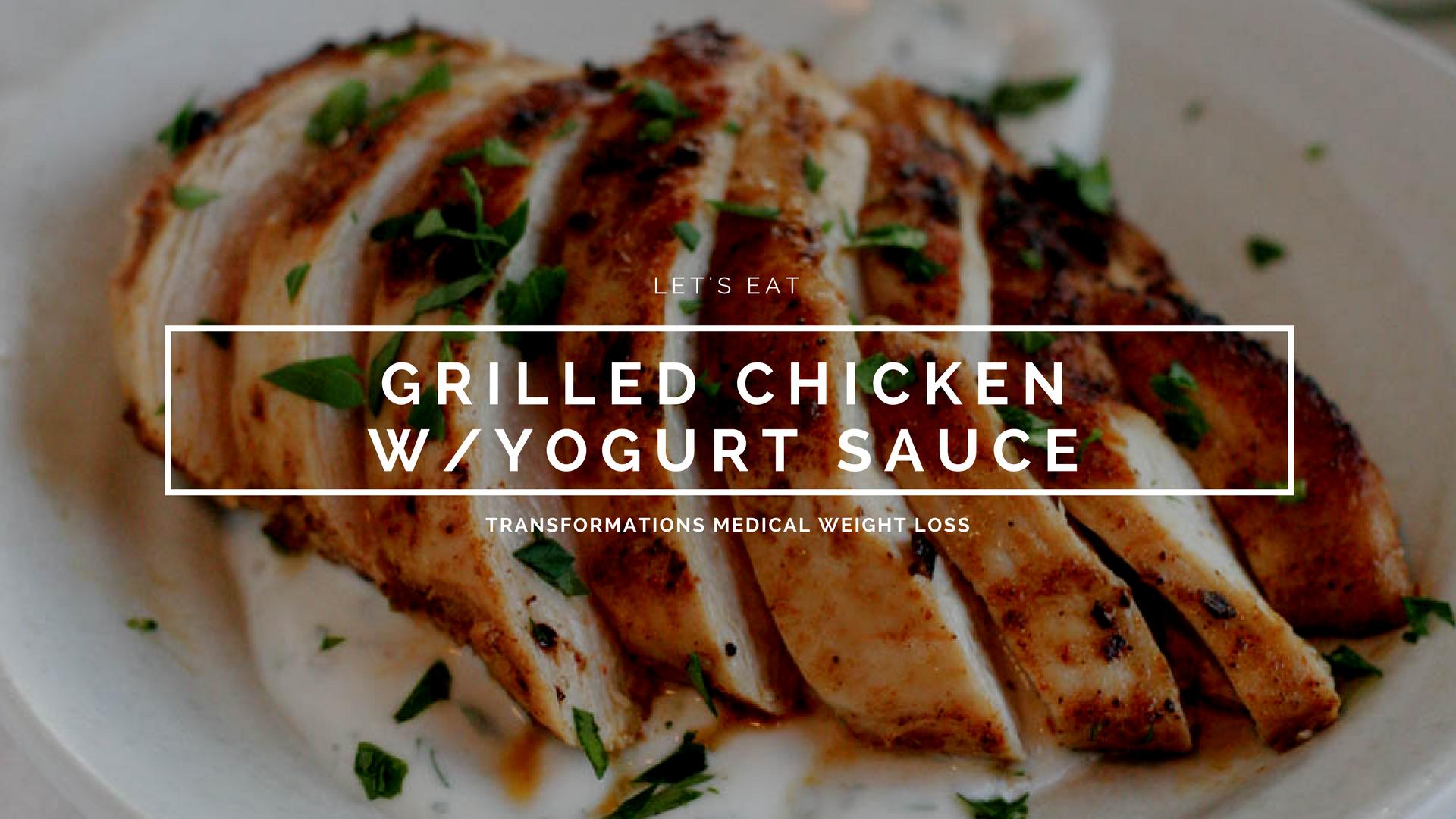 Grilled Chicken w/Yogurt Sauce