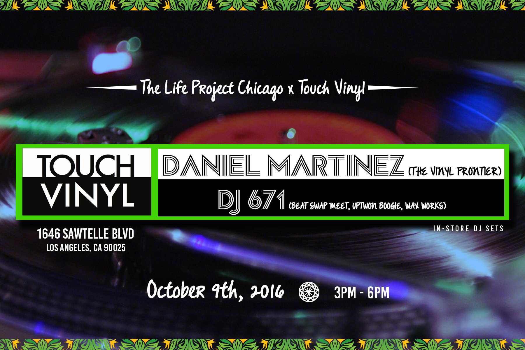 Enjoy vinyl sounds from our chitown friends!