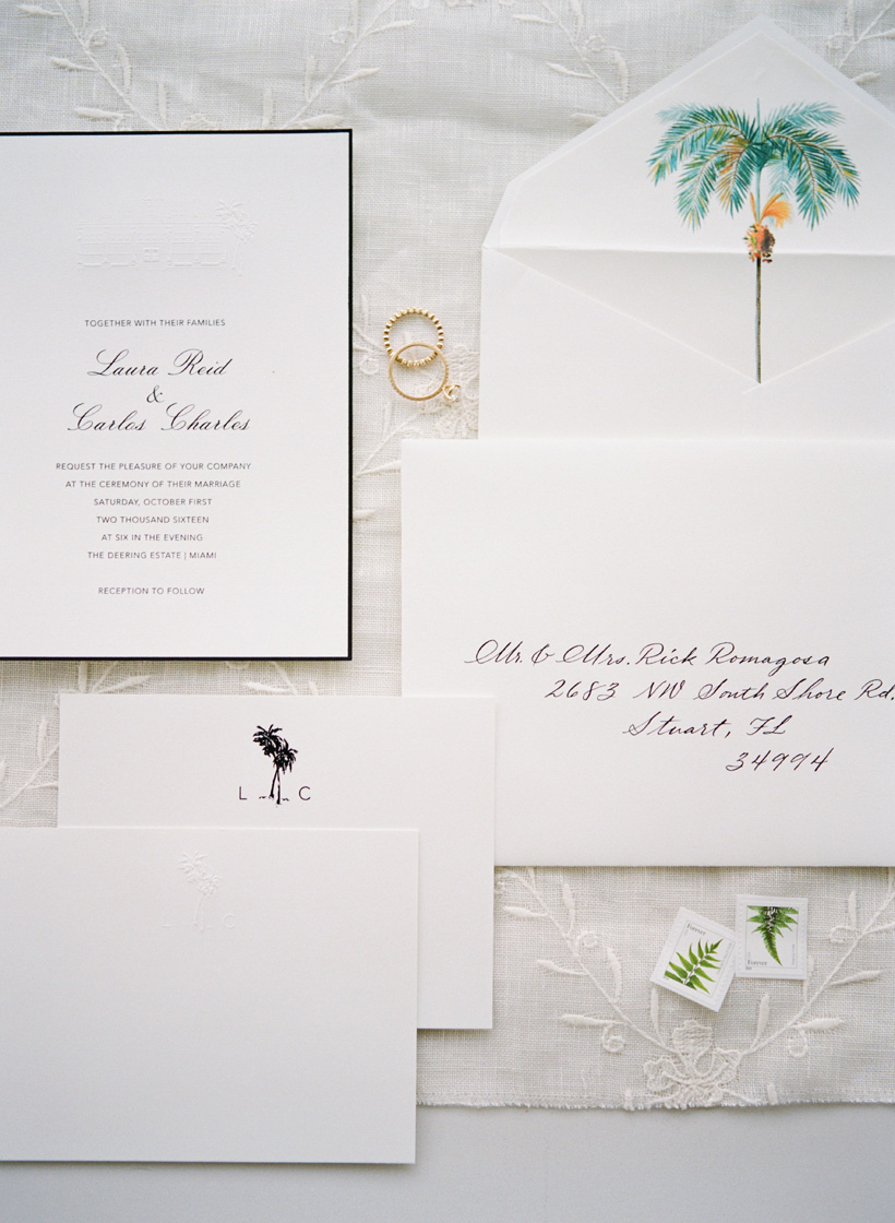 Custom designed wedding invitation suite from Paperless Post - photo by Kat Braman