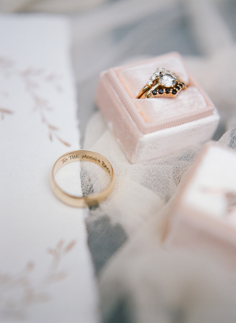 Custom designed rings from Ring Finger Studio - photo by Kat Braman