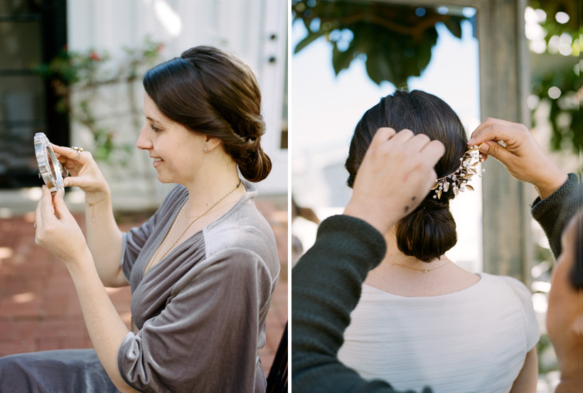 Bride's Hairpiece from Davie & Chiyo - photo by Kat Braman