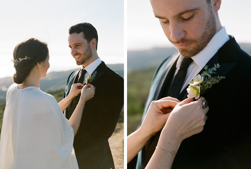 Hellebore Boutonniere by Kasey D Weddings  - photos by Kat Braman