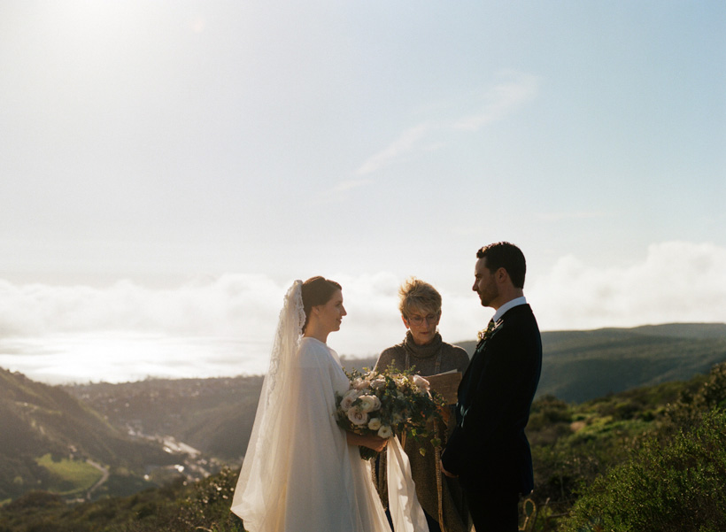 California Elopement at Top of the World Park in Laguna Beach - photo by Kat Braman
