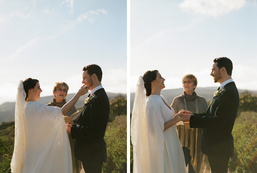 Styled California Elopement featured on Martha Stewart Weddings - photos by Kat Braman
