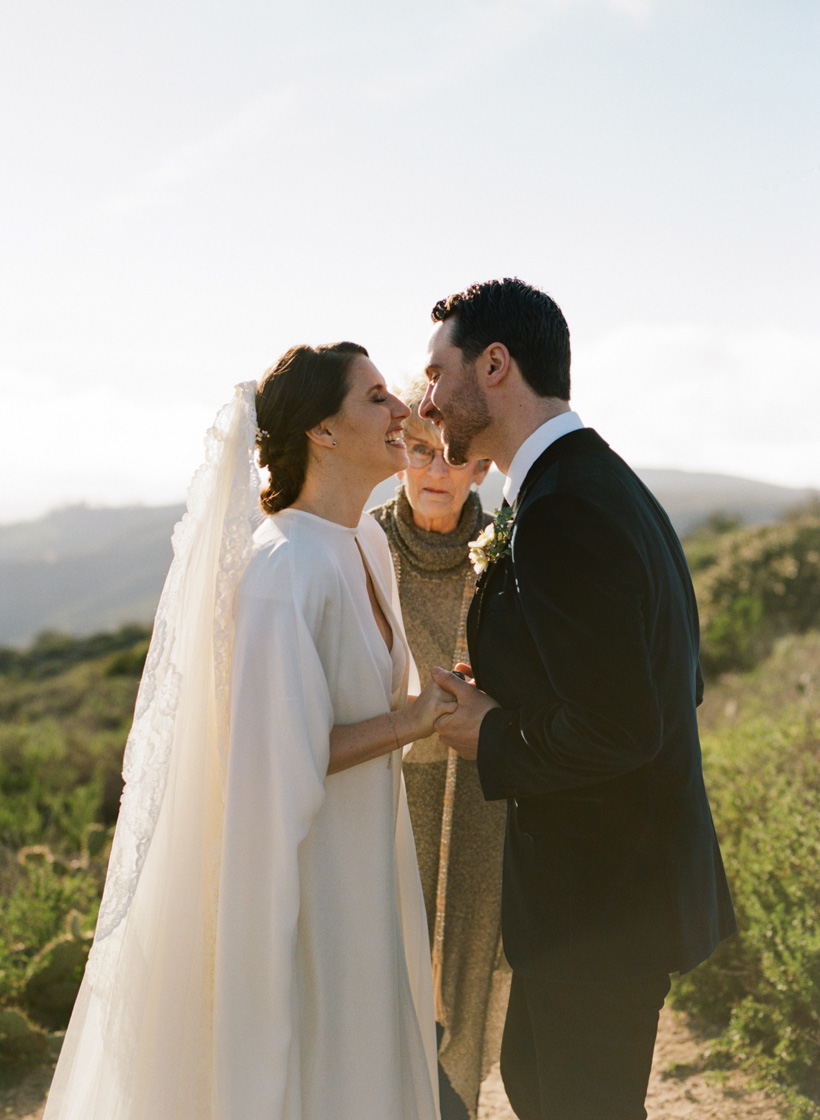 Laguna Beach Elopement at Top of the World Park - photo by Kat Braman