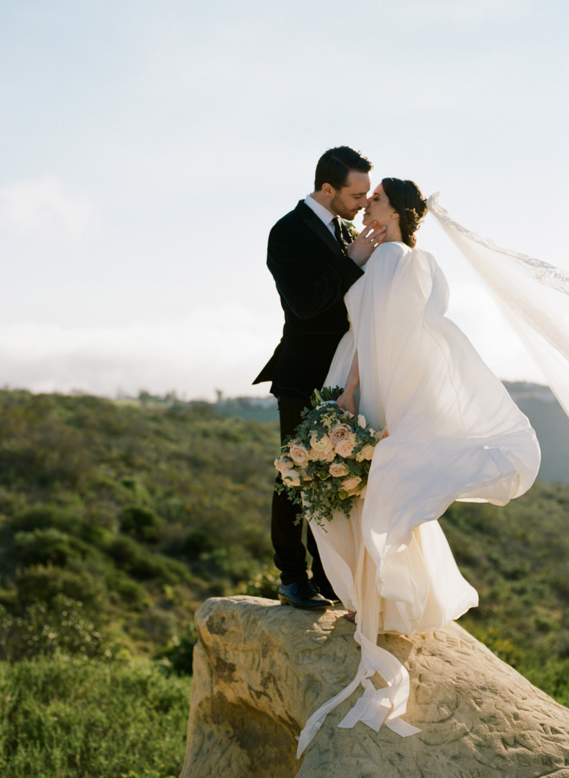 Laguna Beach Elopement at Top of the World Park featured on Martha Stewart Weddings - photo by Kat Braman