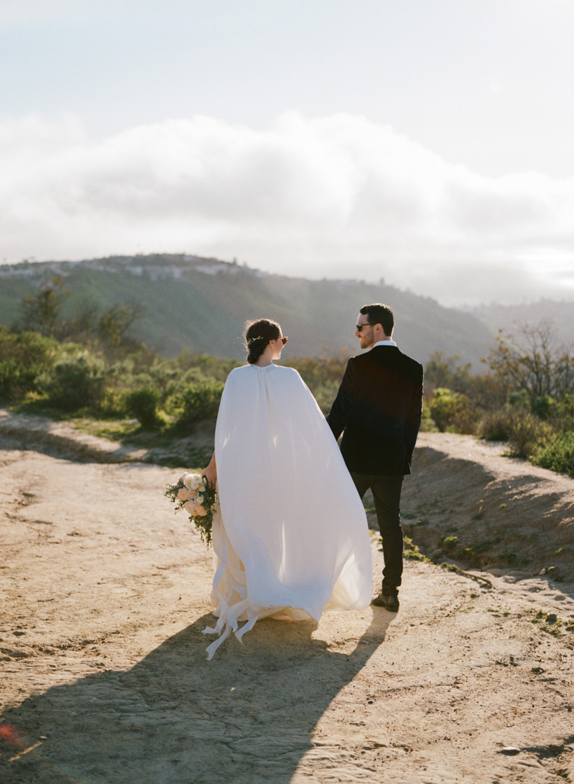 Wedding Cape by Laurie Haluska of Laila Bridal Studio - photo by Kat Braman