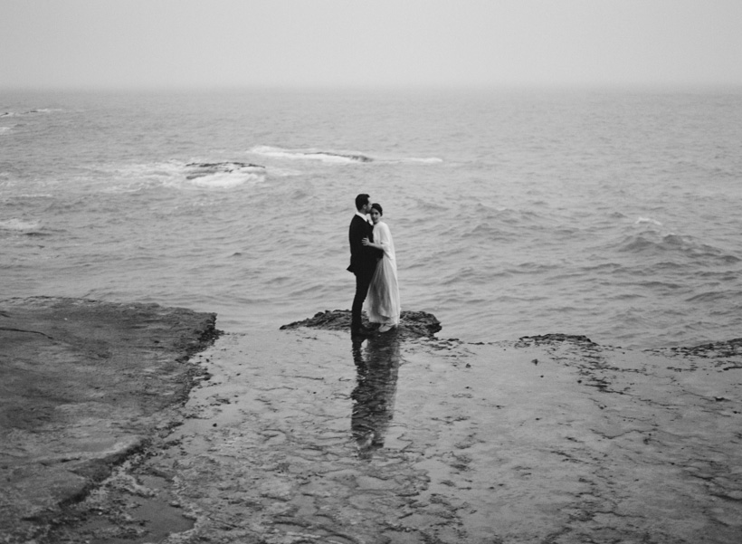 Elopement Portraits at Table Top Rock in Laguna Beach - photo by Kat Braman