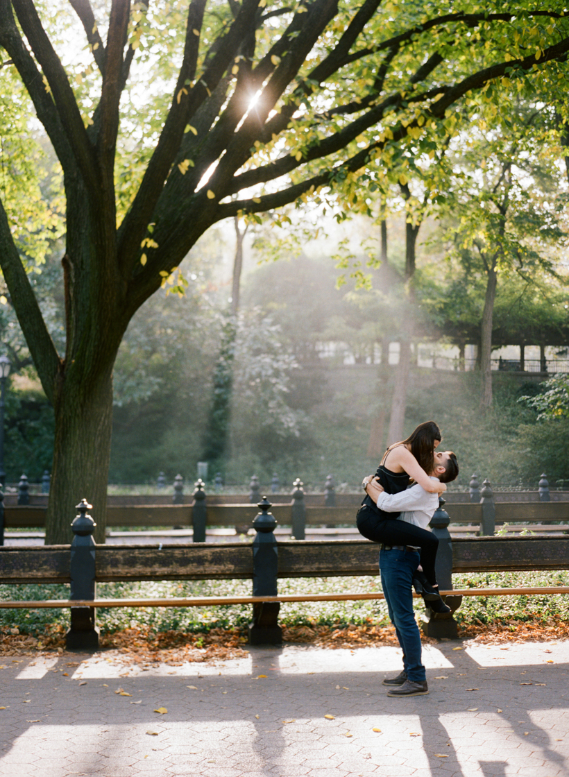 Central Park Engagement Photos - Photo by Kat Braman