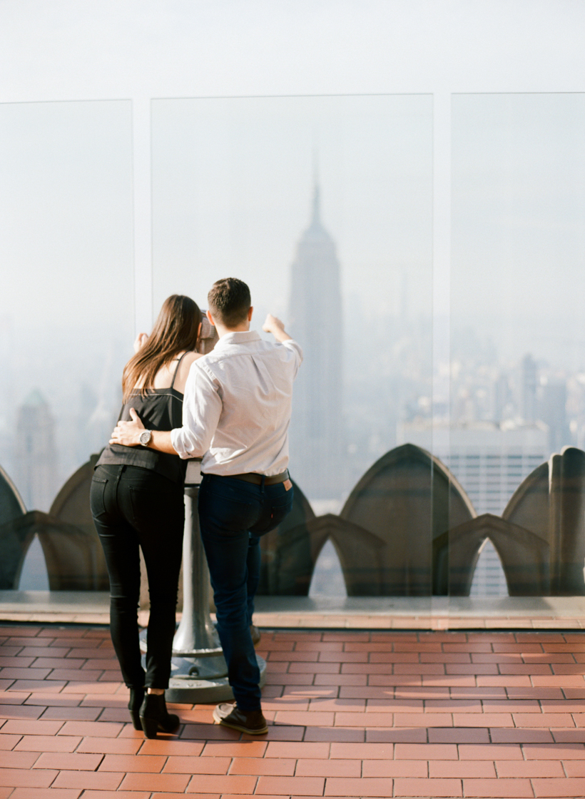Top of the Rock Engagement Photos - Photo by Kat Braman