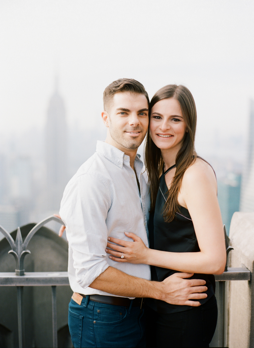 Top of 30 Rock Engagement Photos - Photo by Kat Braman