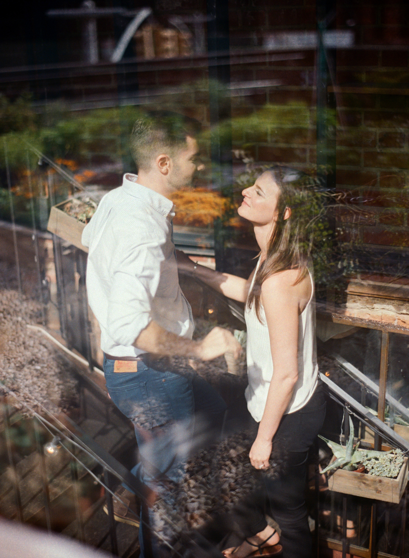 Tribeca Rooftop Engagement Session - Photo by Kat Braman