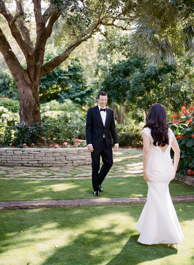 First Look in the most beautiful garden setting - photo by Kat Braman