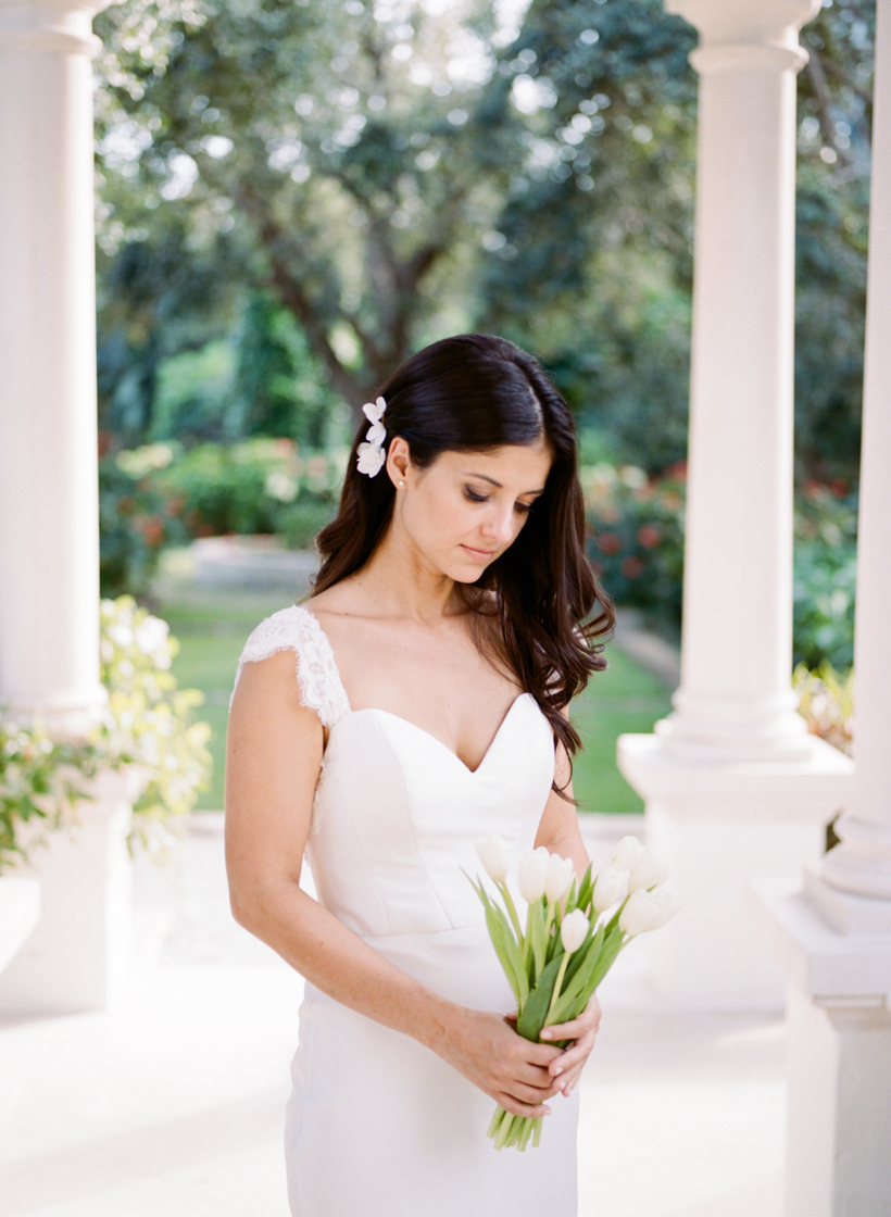 Beautiful bridal portrait in Palm Beach, Florida - photo by Kat Braman