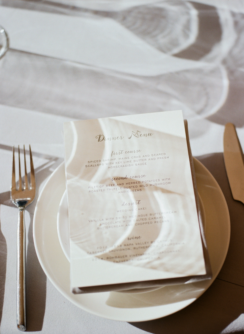 Letterpress dinner menus from Able Letterpress - photo by Kat Braman