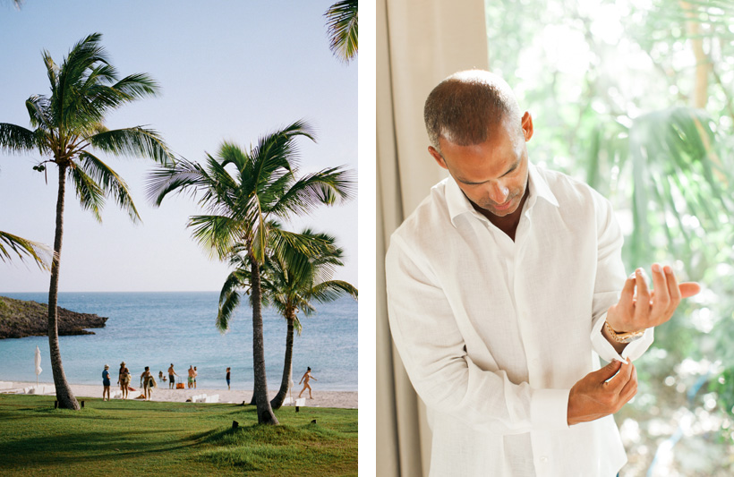 Groom Getting Ready at The Cove Eleuthera - photo by Kat Braman