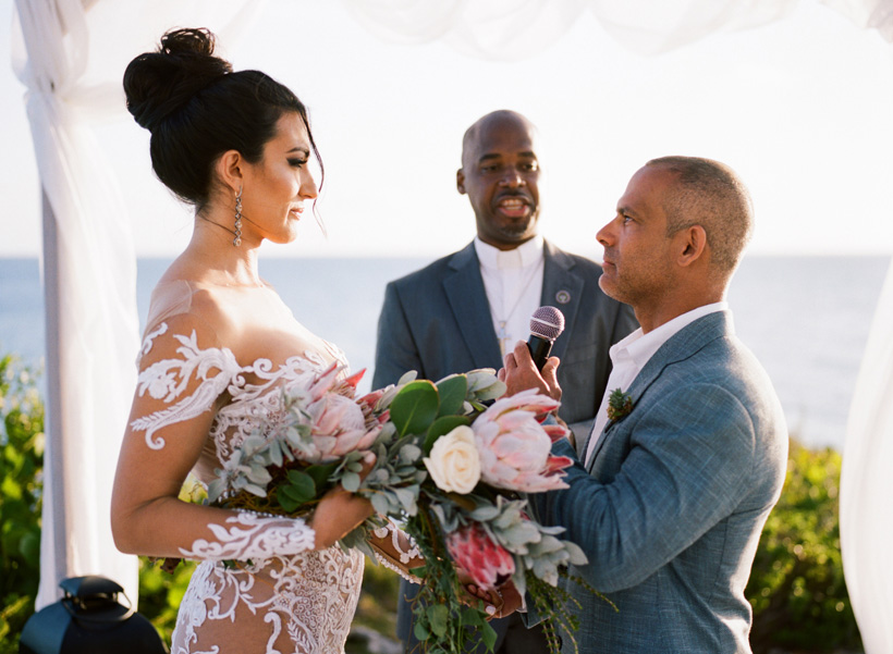 Wedding Ceremony at The Cove Eleuthera - photo by Kat Braman