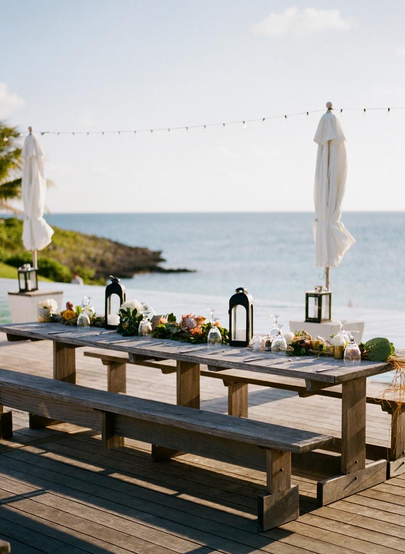Wedding Reception at The Cove Eleuthera, Bahamas - photo by Kat Braman