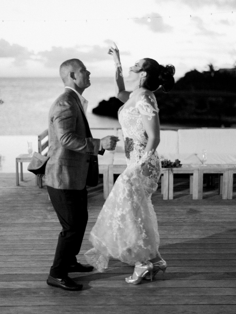 First Dance at Bahamas Destination Wedding in Eleuthera - photo by Kat Braman